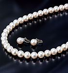 オーロラ花珠本真珠セット(9.0-9.5mm珠ネックレス)