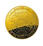 「ジェームズ・クックの航海図」100ドル ドーム型金貨