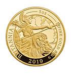 ブリタニア 500ポンド金貨(2019年・5オンス)